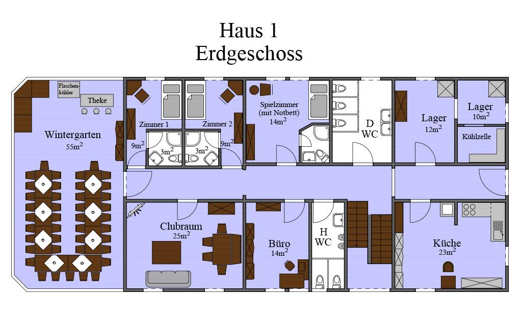 Grundriss Haus 01 EG